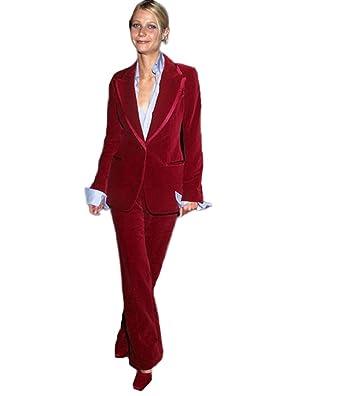 Amazon.com: Traje de boda para mujer, con un botón, color ...