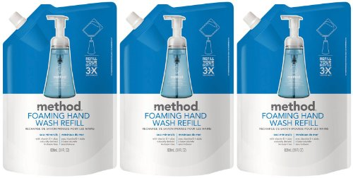 (Method Foaming Hand Wash Refill Pouch, Sea Minerals, 28oz, 3pk)