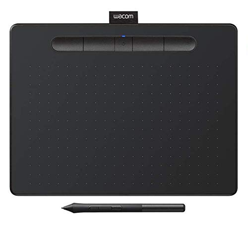 "Wacom CTL6100WLK0 Intuos Wireless Graphics Drawing Tablet with Bonus Software Included, 10.4"" X 7.8"", Black"