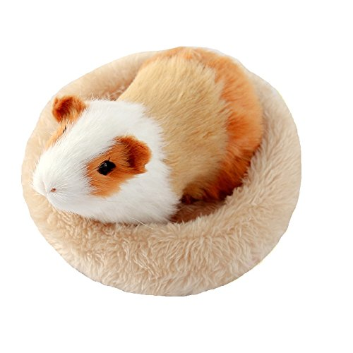 Hamster Bed Soft Warm Cushion for Small Animal - Warm House Sleep Mat Pad for Hamster/Guinea Pigs/Hedgehog/Squirrel/Mice/Rats/Chinchilla (Small, Grey)