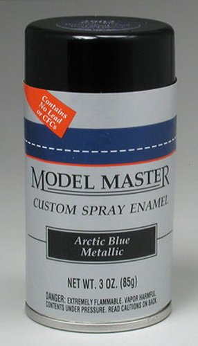 Testors Model Master Automotive Enamel Arctic Blue Metallic Spray ()