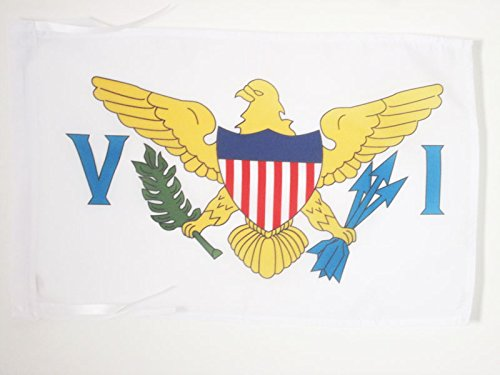AZ FLAG Virgin Islands of The United States Flag 18'' x 12'' Cords - Virgin Islander Small Flags 30 x 45cm - Banner 18x12 in ()