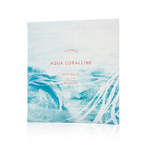 Thymes - Aqua Coralline Bath Salts - Soothing Combination of Epsom and Sea Salt for Relaxing Bath Soak - 2 oz ()
