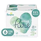 Pampers Aqua Pure 6X Pop-Top Sensitive Water Baby Wipes, Hypoallergenic and Unscented, 336 Count