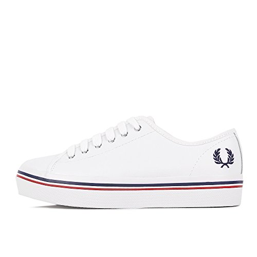 Fred Perry Phoenix Platform Leather White White
