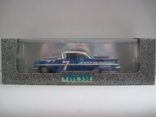 Vitesse 394 #7 Jim Reed 1959 Chevrolet Impala Sport Coupe 1:43 Scale Diecast in Blue and (Chevrolet Impala Sport Coupe)