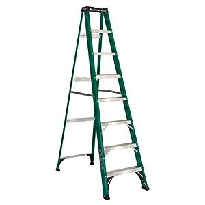 Louisville Ladder FS4008 225-Pound Duty Rating Fiberglass Step Ladder, 8-Foot