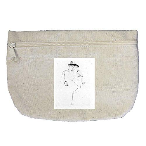 Celeste Sitting On Bank Park (Cassatt) Canvas Makeup Bag Zippered Pouch ()