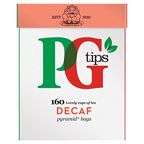 PG Tips Decaf 160s Pyramid Teabags 160 per pack