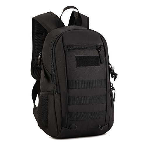 cda3663cd9f02 Huntvp 12L Mini Daypack Military MOLLE Backpack Rucksack Gear Tactical  Assault Pack Student School Bag for Hunting Camping Trekking Travel