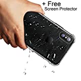 Cheap for Apple iPhone XS Case/iPhone X /10 case +Screen Protector, iPhone10 Case {Crystal Clear} Slim Hybrid Cute Armor Hard Anti Scratch Excellent Grip FlexibleTpu Shockproof Drop-Proof Protective Cover
