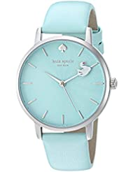 kate spade new york Womens Metro Quartz Stainless Steel and Leather Casual Watch, Color:Blue (Model: KSW1409)