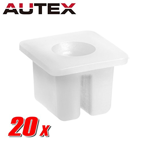 AUTEX 20pcs Door Panel Speakers Antenna Radiator Fastener Rivet Push Clips Retainer Nut Compatible with Chrysler/Dodge/Jeep/Plymouth/Volkswagen ()