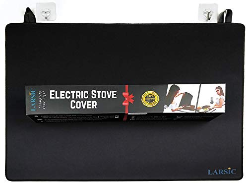 Larsic Stove Cover - Thick Natural Rubber Sheet Protects Electric Stove Top. 28.5 x 20.5