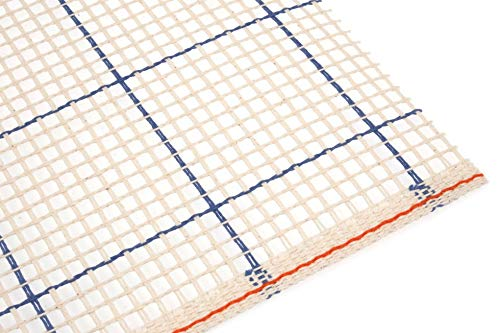 (Minerva Crafts 1m 3 Count Rug Canvas Cream - per 5 metre roll)