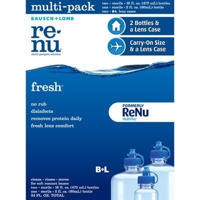 Bausch + Lomb Renu solution multi-usages - 2 x 16 fl. once bouteilles + 1 2 fl. oz