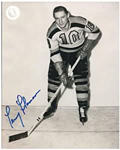 Autographed Feme Flaman Photo - Boston Bruins 8x10 ~ Hall of Famer - Beckett Authentication - Autographed NHL Photos