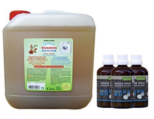 Waschnuss Liquid 5l + 3 x Wäsche Fresh Citrus