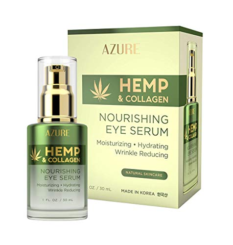 AZURE-Hemp-Collagen-Nourishing-Eye-Serum-Moisturizing-Firming-Toning-Reduces-Wrinkles-Fine-Lines-Under-Eye-Bags-Restores-Tired-Dehydrated-Skin-Made-in-Korea-30mL