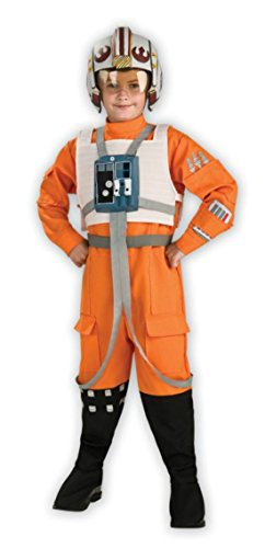 X-wing Pilot Helmet Costume (Boys Star Wars Xwing Pilot Kids Child Fancy Dress Party Halloween Costume, L (12-14))