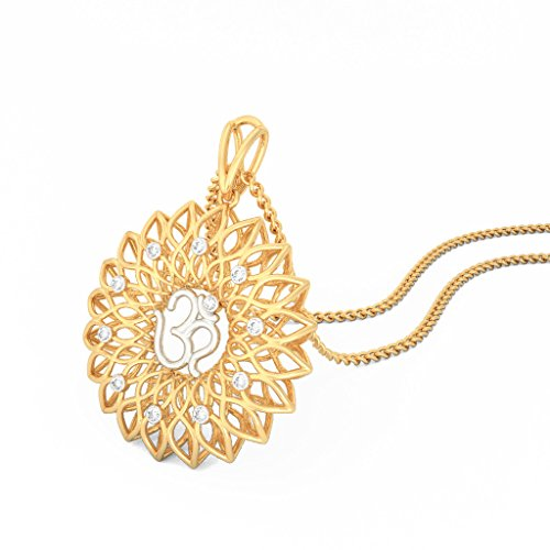 14 K Or jaune 0.09 CT TW Round-cut-diamond (IJ | SI) Pendentif
