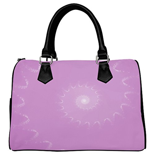 Jasonea Women Boston Handbag Top Handle Handbag Satchel Amazing Fractal Basad193450