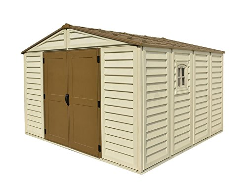 Duramax Building Products WoodBridge Plus 10 ft. x 10 ft. Vinyl Storage Shed with Foundation