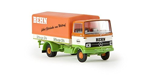 ho-scale-1965-1984-mercedes-benz-lp-608-low-sided-delivery-truck-assembled-benn-bitburger-orange-whi