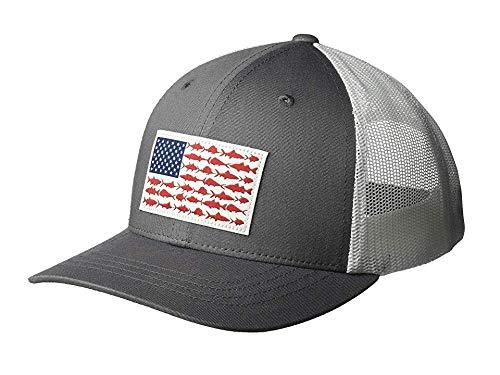 Columbia Kids & Baby Snap Back Hat, Titanium/Fish Flag, One Size