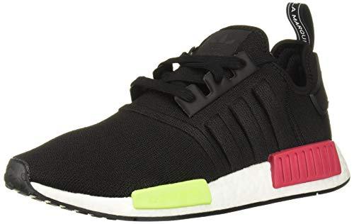 adidas Originals Men's NMD_R1 Running Shoe, Black/Energy Pink, 4 M US (Best Junior Running Shoes)