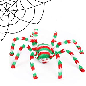 - 41igt5TE0pL - UNKNOK 90cm Giant Spider, Halloween Hairy Spider Scary Fake Spider Outdoor Decor