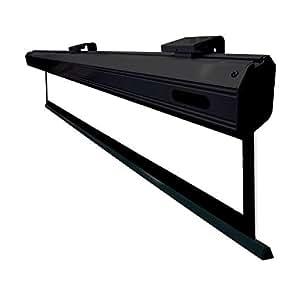 Kimex - Pantalla para proyector eléctrica (2,44 x 1,37 m, formato 16:9)