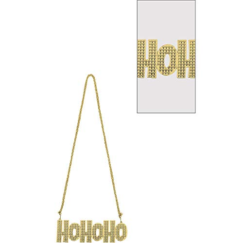 amscan Ho Ho Ho Bead Necklace | Christmas Accessory