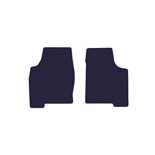 Brightt (MAT-DAQ-146) 2 Pc Front Floor Mats - Blue All-Weather Rubber Weave Pattern - compatible for 2001-2005 Ferrari 360 Spider No Fire ExtInguisher (2001 2002 2003 2004 2005 | 01 02 03 04 05) ()