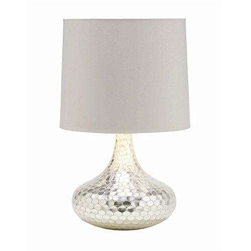-153 Tortoise Silver Bottle Neck Glass Table Light, 23