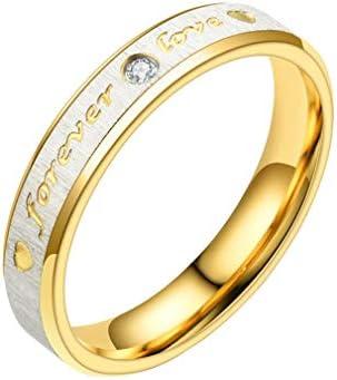 指輪 リング 婚約指輪 レディース メンズ 彼女 彼氏 カップル 刻印 オシャレ 個性 ファッション ジルコニア プレゼント ゴールド+シルバー(レディース) アメリカ6号