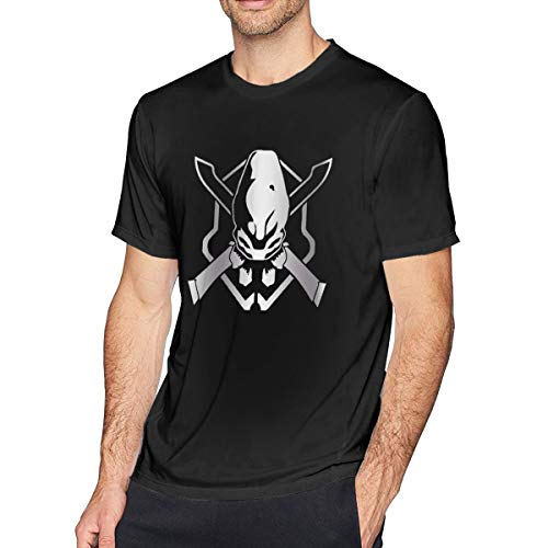 Halo Legendary Platinum Top for Men Tee Slim Fit Casual Tops Short Sleeve Shirts Black Sport Gifts T-Shirt Black M (Halo T Shirt Small)
