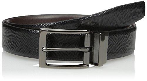 Van Heusen Men's Reversible Traveler Leather Belt, Black, 42
