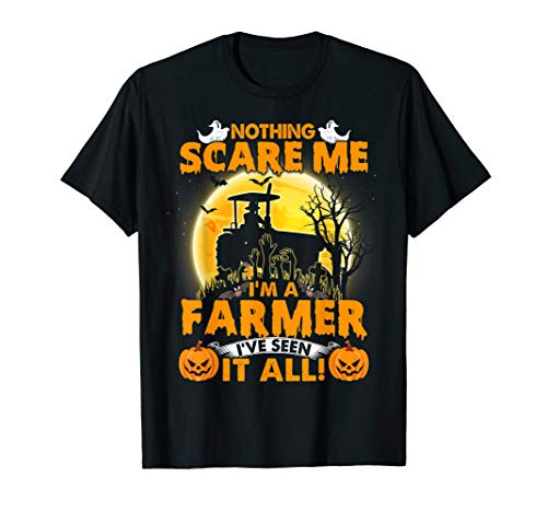 Nothing Scare Me I'M A Retired Farmer Halloween Shirt]()