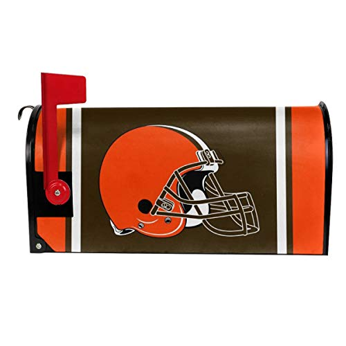 Gdcover Team Design Cleveland Browns Garden Magnetic Mailbox Cover for Outdoor Decor