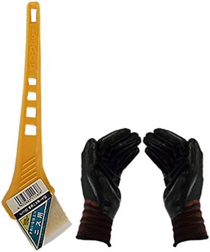 黄柄ニス用ハケ50mm巾 (作業手袋付き)お急ぎ便
