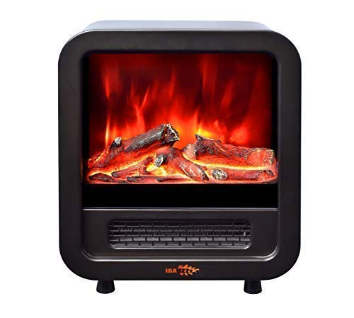 IBAUZZY HY3 Mini Electric Fireplace Stove Space Heater, Real