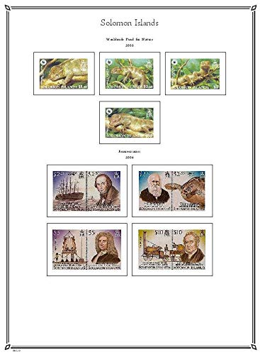 PALO Solomon Islands 1996-2012 hingeless Stamp Album Pages