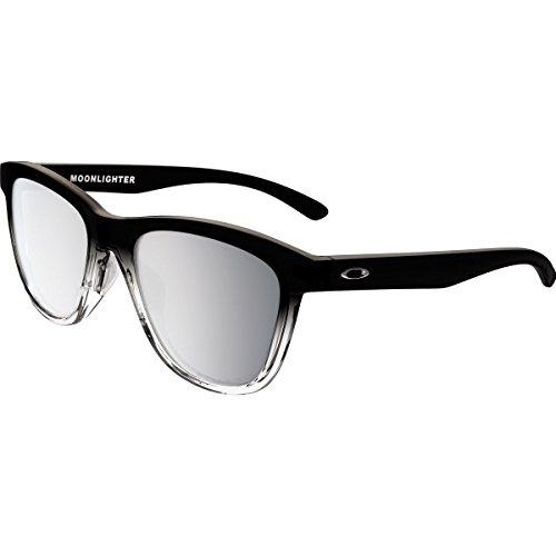 Oakley Women's Moonlighter Polarized Round Sunglasses, Dark Ink Fade, 53 - Grey Glasses Fade