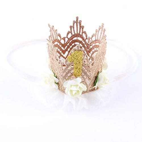 (NUWFOR Girl Head Accessories Hairband Baby Elastic Flower Crown Headwear White)