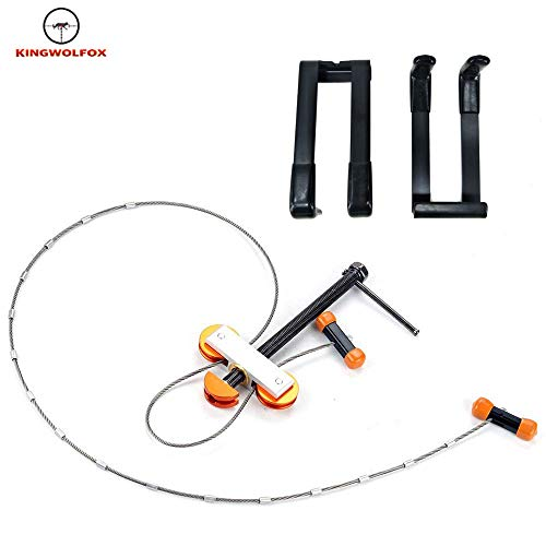 Kingwolfox Compound Bow Metal Press & Quad Bracket Set Hunting Archery Arrow Shooting Tool for Compound Bow Hunting Archery (Portable Bow Press For Past Parallel Limbs)