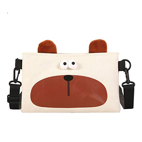 Pinleg Small Square Bag Women Canvas Joker Cute Messenger Bag Shoulder Bag Travel Toiletry Bag Square Make Up Bag Organizer -