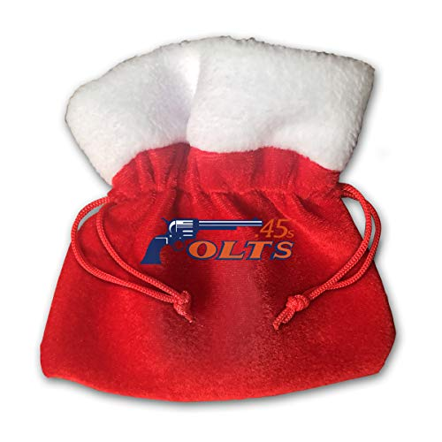 Sfgggerrd Houston Gun 45s Texas Reusable Kids Christmas Drawstring Pouches Candy Jewelry Gift Bag Santa Present ()