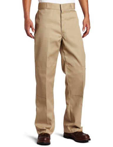 Dickies Mens Loose Fit Double Knee Work Pant, Khaki, 48x30