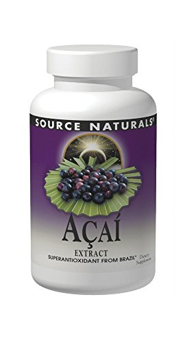 SOURCE NATURALS Acai Extract 500 Mg Capsule, 120 Count